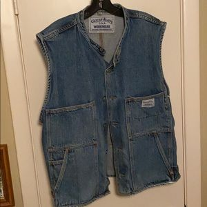 Vintage Guess Jeans USA Workwear Denim Vest XL